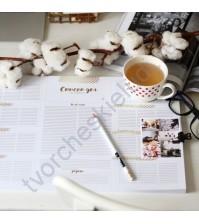 Настольный ежедневник-планер Золотое время, формат А3, цвет золотой, 56 листов