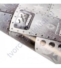 Бумага упаковочная глянцевая Сильный и крутой. Самолет, 65 гр/м2, 70х100 см