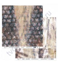 Бумага для скрапбукинга двусторонняя Наша история, 190 гр/м2, 30.5х30.5 см, лист 5