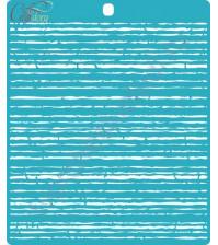 Трафарет пластиковый Помехи, 14.6х16.4 см