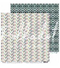 Бумага для скрапбукинга двусторонняя, коллекция Тепло и Уютно, 30.5х30.5 см, 190 гр\м2, лист Мёд и мята