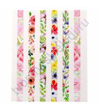 Набор уголков для фотографий Акварельные цветы, 84 шт на листе 11х13 см