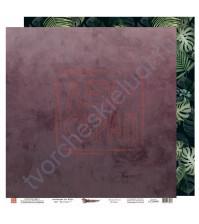 Бумага для скрапбукинга двусторонняя, 30.5х30.5 см, плотность 190 гр/м2, коллекция Die Villa, лист Оранжерея