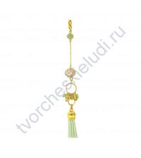 Кисточка-брелок для корешка Мятное настроение, длина 12.5 см, 1 шт