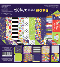 Набор двусторонней бумаги Ticket to the Moon (ENG), 30.5х30.5 см, 190 гр/м, 10 листов
