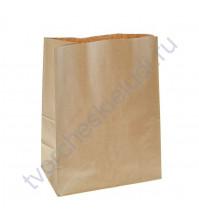 Пакет из крафт-бумаги, плотность 70 гр/м2, 34х26х15 см, цвет натуральный