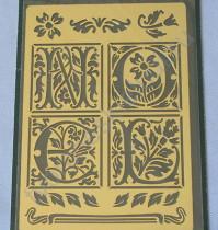 Трафарет металлический для тиснения Noel, 8.8х12.7 см