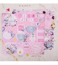 Бумага для скрапбукинга двусторонняя Me to you, 30.5х30.5 см, 180 гр/м, лист Моя большая радость