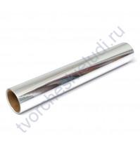 Винил клеевой фольгированный Foil, цвет серебро, 30.5х30.5 см (+/- 0.5см)