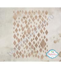 Трафарет пластиковый Ромбы, 12х18 см