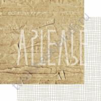 Бумага для скрапбукинга двусторонняя, коллекция ФОНОteka, 30х30 см плотность 190г/м, лист Упакуй меня, если сможешь