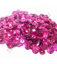 Пайетки круглые с эффектом металлик 6 мм, 10 гр, цвет малиновый