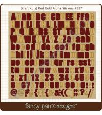 Набор стикеров на крафте Alpha, 30.5х30.5 см, цвет оттенки коричневого