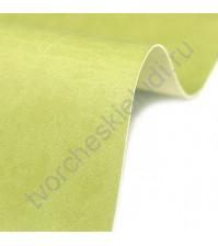 Кожзам переплетный на полиуретановой основе плотность 230 гр/м2, 50х70 см, цвет D516 светло-зеленый