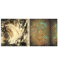 Лист двусторонней бумаги для скрапбукинга 30х30см, 170 гр/м, коллекция Rusty, лист 5004