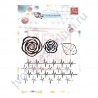 Набор штампов Сердцебиение, коллекция Все будет хорошо!, размер набора 10х12 см, 4 элемента