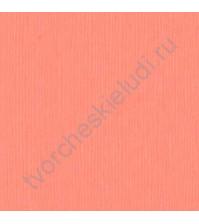 Кардсток текстурированный Ягодный леденец (коралловый), размер 30.5х30.5 см, плотность 216 гр/м