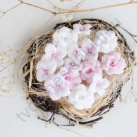 Цветы ручной работы из ткани Гортензии и розы, 15 шт, цвет розовый микс