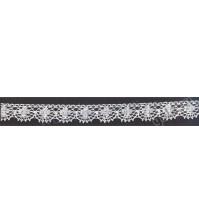 Тесьма вязаная (кружево) Iemesa, шир. 13 мм, цвет белый, 1 метр