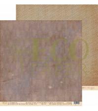 Бумага для скрапбукинга двусторонняя 30.5х30.5 см, 250 гр/м, коллекция Старые письма, лист Старые обои