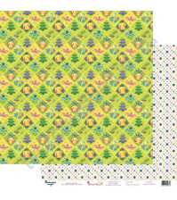 Бумага для скрапбукинга двусторонняя 30.5х30.5 см, 190 гр/м2, коллекция Жили-были, лист Колобок, колобок
