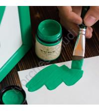 Краска акриловая Tury Design Di-7 на водной основе, флакон 60 гр, цвет Изумрудно-зеленый