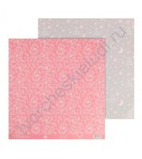 Бумага для скрапбукинга двусторонняя 30.5х30.5 см, 180 гр/м2, лист Нежность
