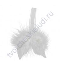 Декоративный элемент Крылья, 60 мм, цвет белый
