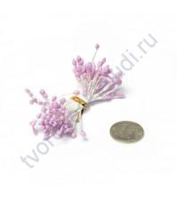 Тычинки двусторонние с глиттером, 80 шт, цвет розовый