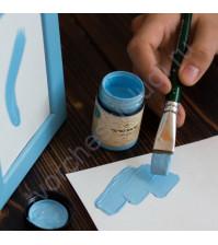 Краска акриловая Tury Design Di-7 на водной основе, флакон 60 гр, цвет Небесный голубой