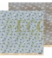 Бумага для скрапбукинга двусторонняя 30.5х30.5 см, 250 гр/м, коллекция Бабушкин сад, лист Паутинка