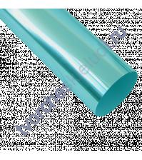 Термотрансферная пленка металлик, цвет зеркальная бирюза, 25х25 см (+/- 1 см)