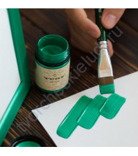 Краска акриловая перламутровая Tury Design Di-7 на водной основе, флакон 60 гр, цвет изумрудно-зеленый перламутр