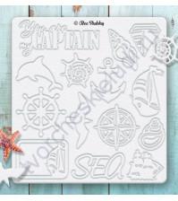 Набор чипборда Корабли, коллекция Sea Adventure, 14 элементов