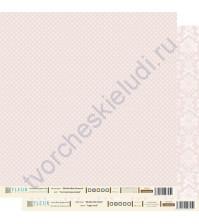 Лист бумаги для скрапбукинга Светлый Кораловый , коллекция Шебби Шик Базовая,30 на 30 плотность 190 гр