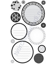 Набор стикеров Circle Journaling Black and White, 13 элементов