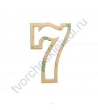 Шейкер Цифра 7, высота 60 мм, толщ. 3 мм, цвет прозрачный