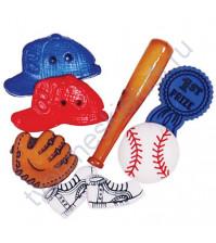 Набор декоративных элементов Бейсбол 12-50 мм