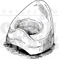 ФП печать (штамп) Маленький горшок, 3х3.4 см