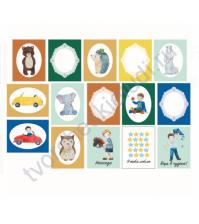 Набор карточек для скрапбукинга Мальчишки 15 шт, 5.5х7 см, плотность 190 гр\м2