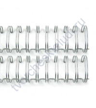 Пружинка для брошюровки, диам. 25.4 мм (1 дюйм), цвет серебро
