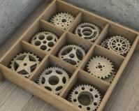 Декоративные элементы из дерева Шестеренки-1, 9 элементов