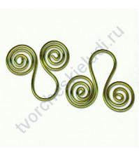 Набор декоративных скрепок Spirals Drop, 20 шт, цвет золото