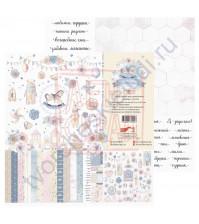 Бумага для скрапбукинга, 30.5х30.5 см, плотность 190 гр/м2, коллекция Потешки, лист Обложка