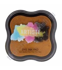 Штемпельная подушечка быстросохнущая Dye Ink Pad, 7х7 см, цвет темно-желтый