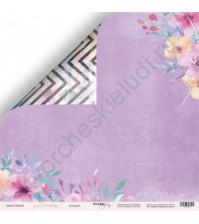 Бумага для скрапбукинга двусторонняя 30.5х30.5 см, 190 гр/м, коллекция Gentle Morning, лист Акварель