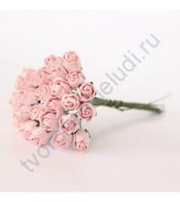Бутоны роз полураскрытые 10 мм, 5 шт, цвет розовоперсиковый светлый