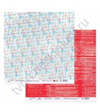 Бумага для скрапбукинга двусторонняя коллекция Синус-Косинус, 30.5х30.5 см, 190 гр/м, лист 4