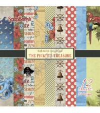 Набор бумаги 15х15 см 190 гр/м Сокровище пиратов, 12 листов