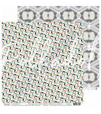 Бумага для скрапбукинга двусторонняя, коллекция Тепло и Уютно, 30.5х30.5 см, 190 гр\м2, лист Яблочный пирог